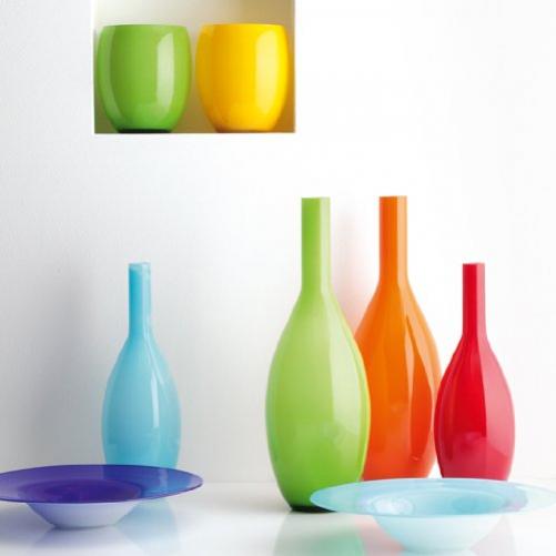 LEONARDO Beauty Vase Bottle shaped vase red