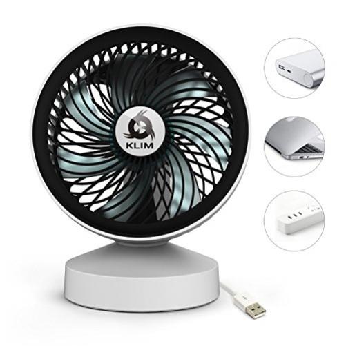 KLIM Breeze USB Fan - High Performance Portable Desk Fan