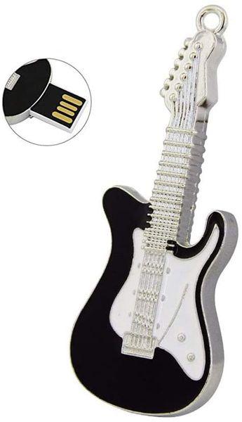 3C Kingdom Funny and Novelty Metal Guitar Shape 32GB USB 2.0 Flash Drive Cool USB Stick Waterproof
