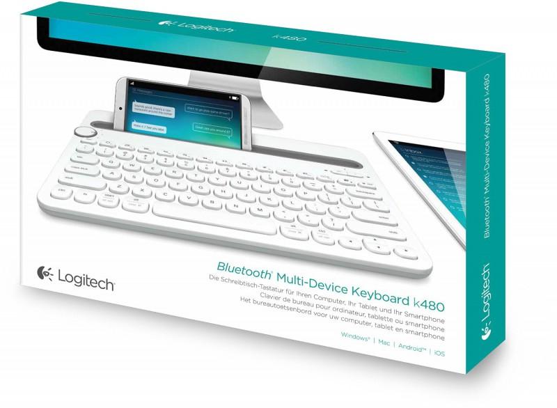 logitech K480 Multi-Device Keyboard White (FRA Layout - AZERTY)