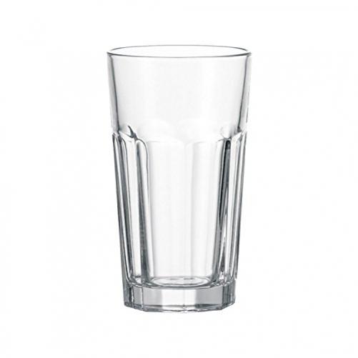 Leonardo Rock Long Drink Glass XL, Cocktail Glass, Cup, Clear Glass, Glass, 390 ml