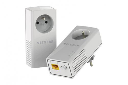 Netgear PLP1000-100FRS PowerLine Netzwerkadapter 1000 Mbit/s Eingebauter Ethernet-Anschluss Weiß 2 Stück(e)