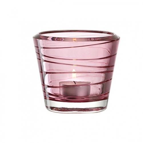LEONARDO Vario candle holder glass red