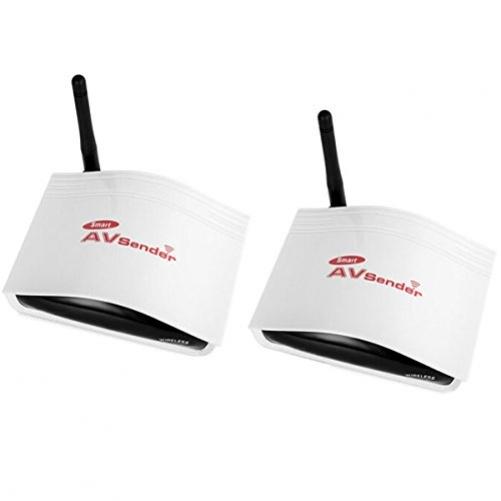 Smart Digital STB wireless shared AV transmitter and receiver device Intelligent Digital System 150M), white + black
