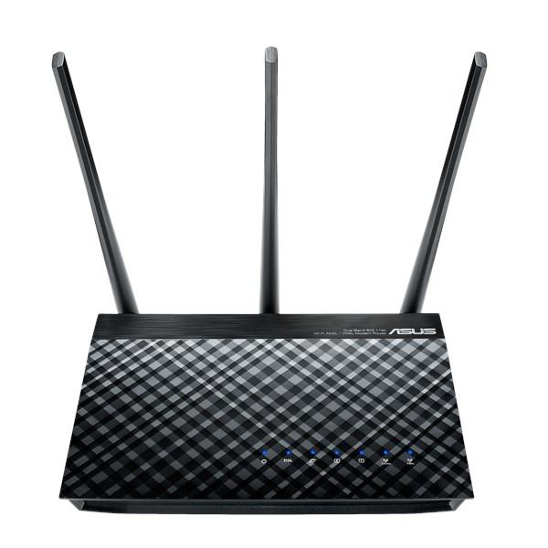 ASUS DSL-AC51 WLAN-Router Dual-Band (2,4 GHz/5 GHz) Gigabit Ethernet Schwarz