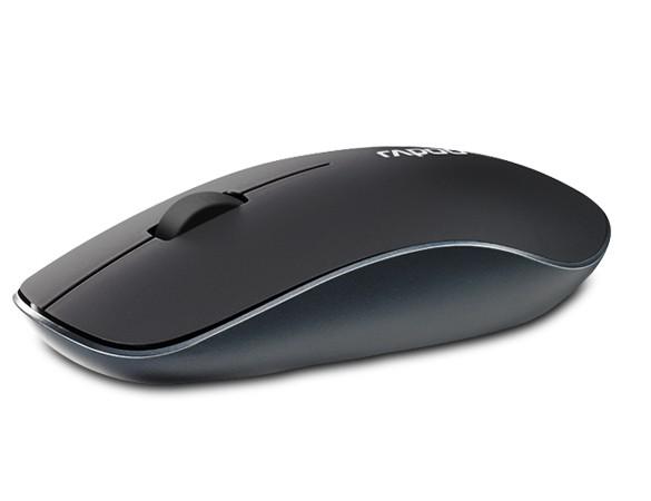 RAPOO 3500P RF Wireless Optisch 1000DPI Ambidextrös Black Mouse, 5 G-Funkverbindung Optische Maus, 1000 DPI, Nano-Empfänger