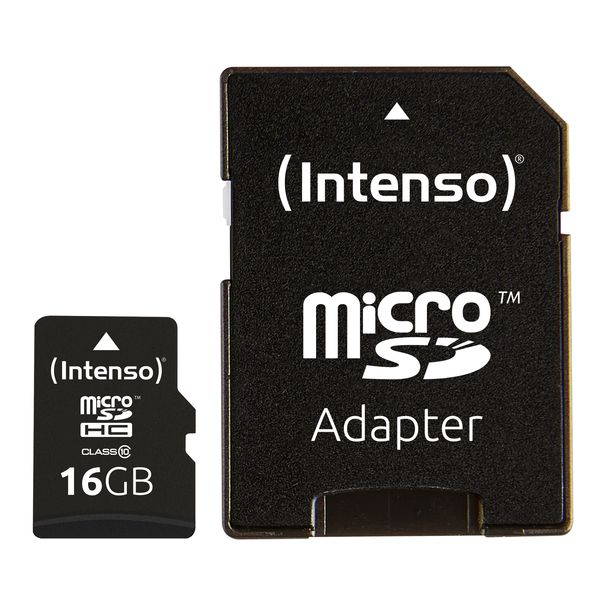 Intenso 16GB MicroSDHC Speicherkarte Klasse 10