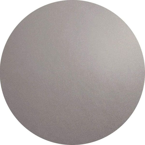 ASA Table set round - Cement/Grey - leather Ø 38 cm