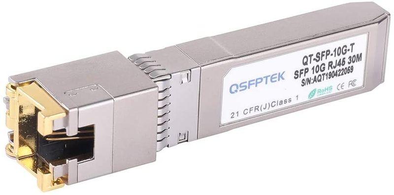 QSFPTEK 10G SFP+ Copper RJ45 Module 10GBASE-T Transceiver Compatible for Juniper EX-SFP-10GE-T,up to 30m